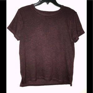 American Eagle Outfitters Tops - BURGUNDY T-SHIRT